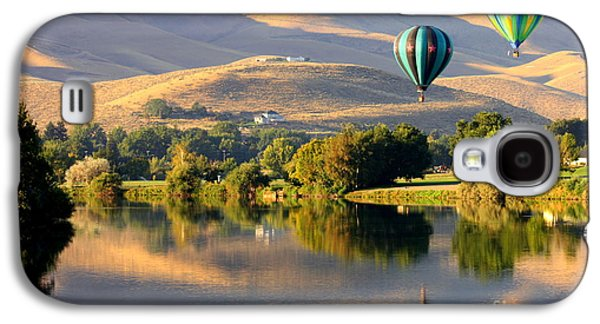 Yakima Valley Galaxy S4 Cases - Reflection of Prosser Hills Galaxy S4 Case by Carol Groenen