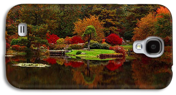 Garden Scene Galaxy S4 Cases - Reflection Of Trees In Water, Japanese Galaxy S4 Case by Panoramic Images
