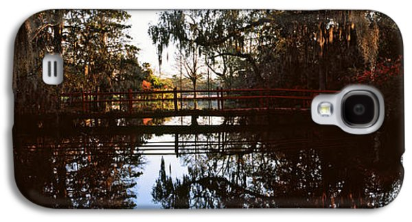 Garden Scene Galaxy S4 Cases - Reflection Of Trees In Water, Magnolia Galaxy S4 Case by Panoramic Images