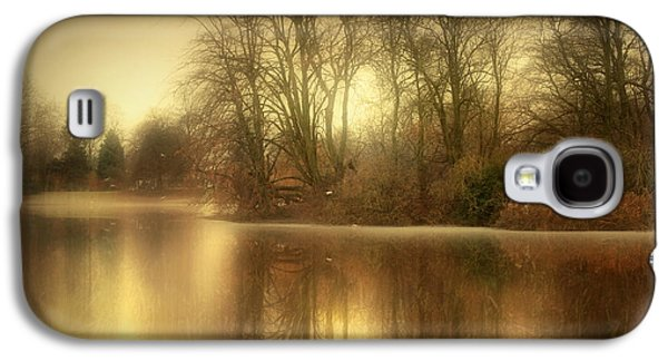 Autumn Landscape Digital Art Galaxy S4 Cases - Reflections from the Lake Galaxy S4 Case by Jennifer Woodward