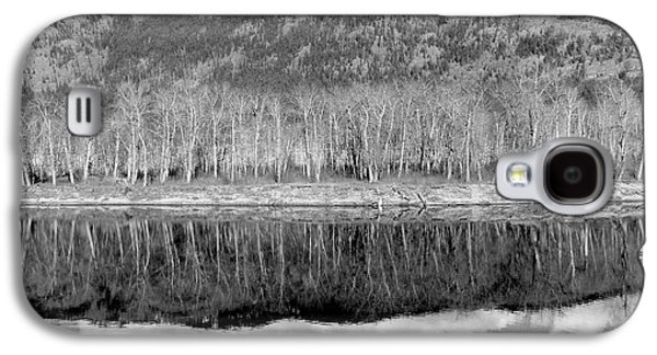 Reflections In River Galaxy S4 Cases - Reflections In Black And White Galaxy S4 Case by Will Borden