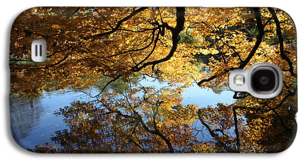 Trees Reflecting In Water Galaxy S4 Cases - Reflections Galaxy S4 Case by John Telfer