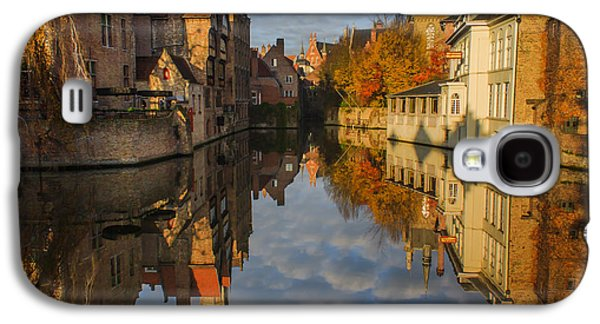 Medieval Galaxy S4 Cases - Reflections of Bruges Galaxy S4 Case by Chris Fletcher