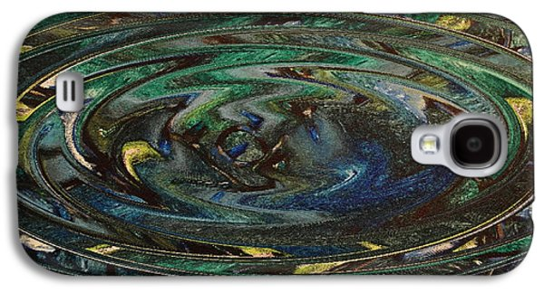 Abstract Digital Paintings Galaxy S4 Cases - Reflections Of Christmas #3 Galaxy S4 Case by Wayne Cantrell