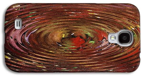Abstract Digital Paintings Galaxy S4 Cases - Reflections Of Christmas Galaxy S4 Case by Wayne Cantrell