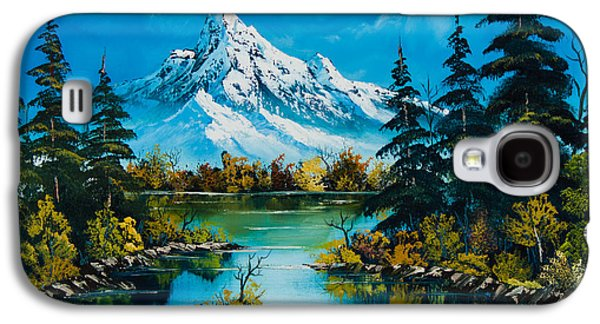 Recently Sold -  - Bob Ross Paintings Galaxy S4 Cases - Reflections of Fall Galaxy S4 Case by C Steele