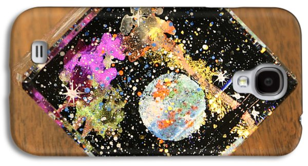 Outer Space Glass Art Galaxy S4 Cases - Reflections Galaxy S4 Case by Wolfgang Finger