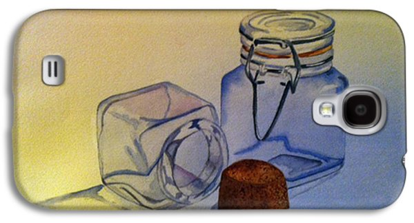 Water Jars Paintings Galaxy S4 Cases - Reflective Still Life Jars Galaxy S4 Case by Brenda Brown