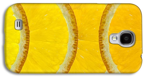 Orange Digital Art Galaxy S4 Cases - Refreshing Orange Slices  Galaxy S4 Case by Natalie Kinnear
