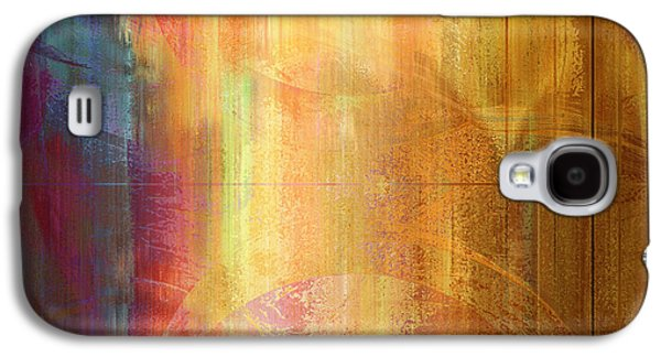 Sunset Abstract Mixed Media Galaxy S4 Cases - Reigning Light - Abstract Art Galaxy S4 Case by Jaison Cianelli