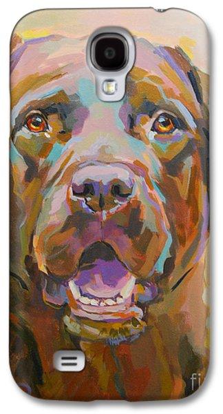 Chocolate Labrador Retriever Galaxy S4 Cases - Reilly Galaxy S4 Case by Kimberly Santini