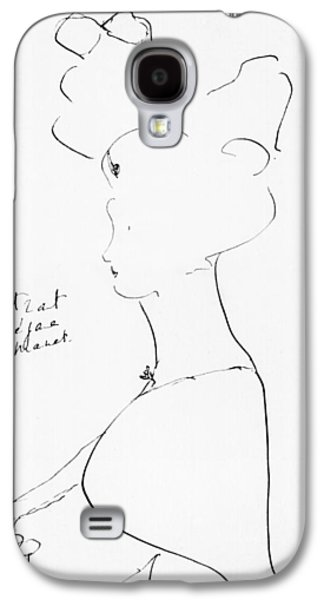 20th Drawings Galaxy S4 Cases - Rejane Galaxy S4 Case by Marcel Proust