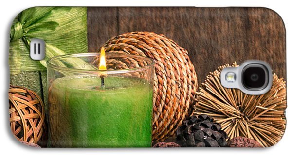 Studio Photographs Galaxy S4 Cases - Relaxing Spa candle Galaxy S4 Case by Edward Fielding
