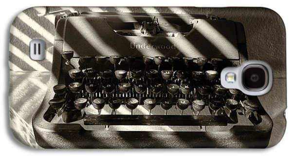Typewriter Keys Photographs Galaxy S4 Cases - Relic in Sepia Galaxy S4 Case by Tony Grider