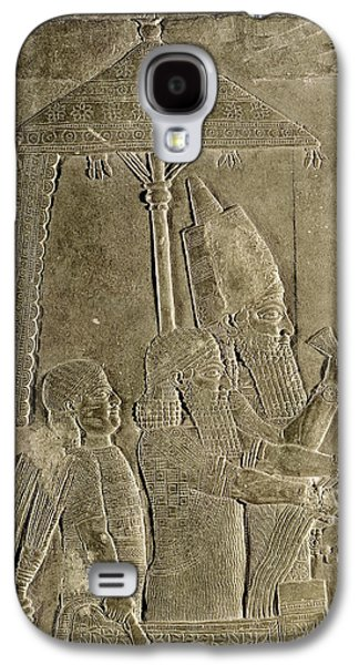 Slaves Galaxy S4 Cases - Relief Depicting The Chariot Of King Assurbanipal 669-626 Bc Detail Of The Canopy, From The Palace Galaxy S4 Case by Assyrian