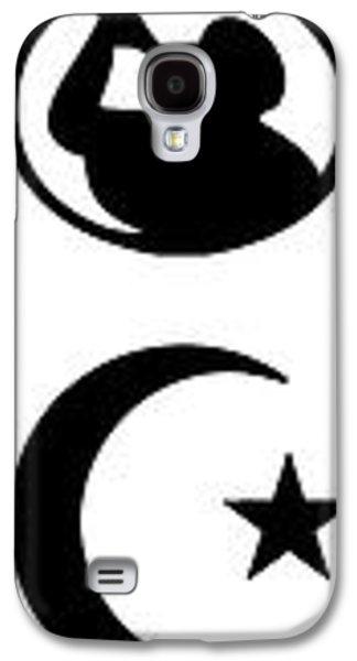 Russian Icon Galaxy S4 Cases - Religion Symbolized - Minimum Black Frame Galaxy S4 Case by Daniel Hagerman