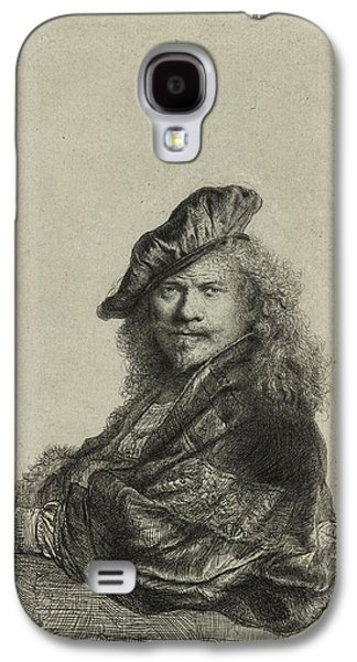 Business Drawings Galaxy S4 Cases - Rembrandt Self Portrait 1639 Galaxy S4 Case by Movie Poster Prints