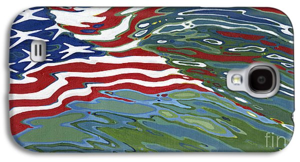 4th July Paintings Galaxy S4 Cases - Remember Galaxy S4 Case by Margaret Juul