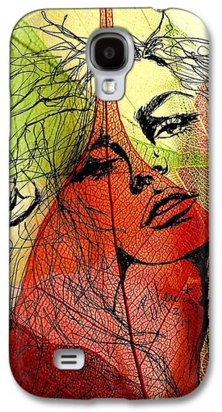 Colorful Abstract Drawings Galaxy S4 Cases - Remembering Fall Galaxy S4 Case by P J Lewis