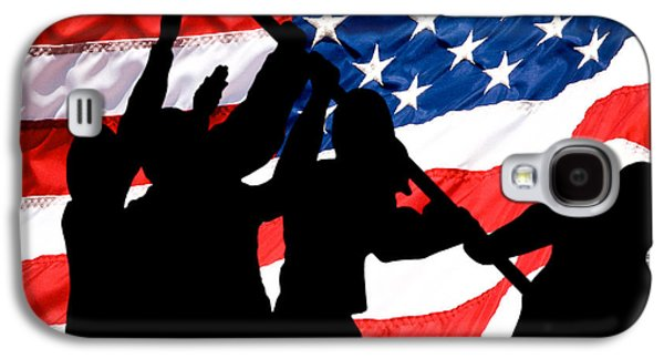 4th July Galaxy S4 Cases - Remembering World War II Galaxy S4 Case by Bob Orsillo