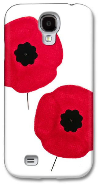 Cutouts Galaxy S4 Cases - Remembrance Day poppies Galaxy S4 Case by Elena Elisseeva