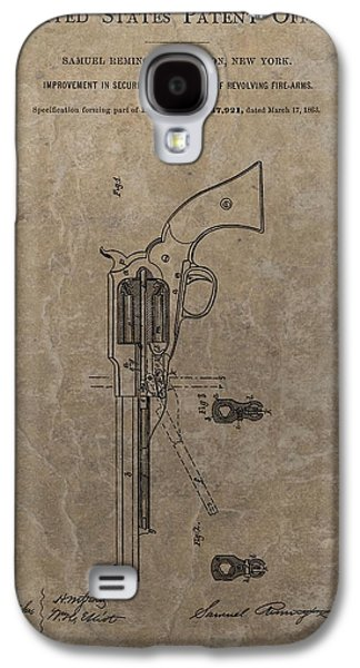 Government Mixed Media Galaxy S4 Cases - Remington Revolver Patent Galaxy S4 Case by Dan Sproul