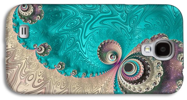 Abstract Digital Photographs Galaxy S4 Cases - Reminiscent Of A Peacock Galaxy S4 Case by Heidi Smith
