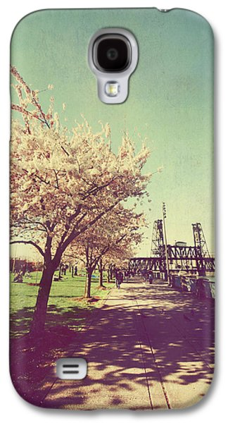 Cherry Blossoms Digital Art Galaxy S4 Cases - Reminiscing Galaxy S4 Case by Laurie Search