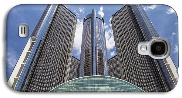 Renaissance Center Galaxy S4 Cases - Renaissance Center from River Galaxy S4 Case by John McGraw