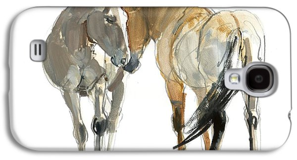 Wild Horse Galaxy S4 Cases - Rencontre Przewalski, 2013, Watercolour And Pigment On Paper Galaxy S4 Case by Mark Adlington