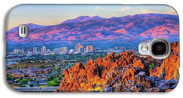 Landscapes Photographs Galaxy S4 Cases - Reno Nevada Sunrise Galaxy S4 Case by Scott McGuire
