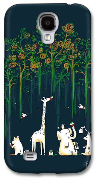 Earth Galaxy S4 Cases - Repaint the forest Galaxy S4 Case by Budi Satria Kwan