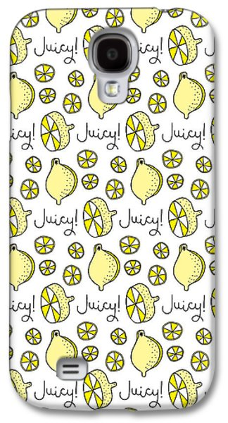 Repeat Prtin - Juicy Lemon Galaxy S4 Case by Susan Claire