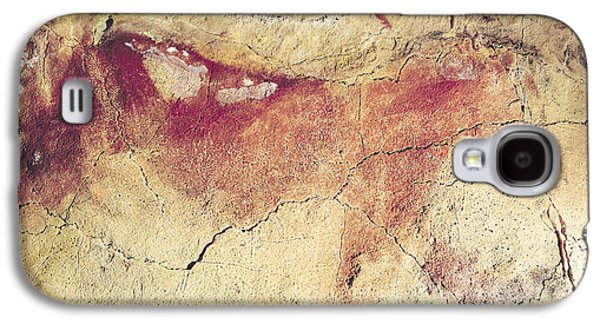 Mural Photographs Galaxy S4 Cases - Representation Of An Animal, C.15000 Bc Cave Painting Galaxy S4 Case by Prehistoric