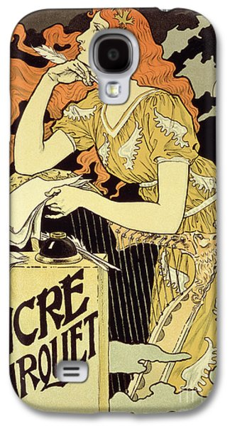 Head Drawings Galaxy S4 Cases - Reproduction of a poster advertising Marquet Ink Galaxy S4 Case by Eugene Grasset