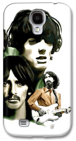 Beatles Drawings Galaxy S4 Cases - Requiem George Harrison Galaxy S4 Case by Iconic Images Art Gallery David Pucciarelli