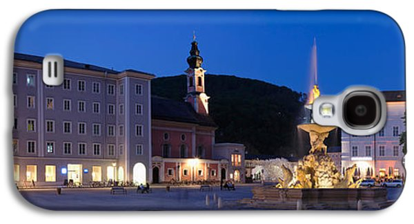 Salzburg Galaxy S4 Cases - Residenz Fountain And Michaeliskirche Galaxy S4 Case by Panoramic Images