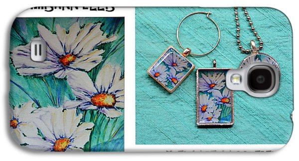 Floral Jewelry Galaxy S4 Cases - Resin Jewelry using Artwork by Chrisann Ellis  Galaxy S4 Case by Carla Parris