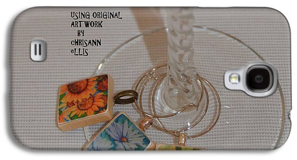 Colorful Jewelry Galaxy S4 Cases - Resin Wine Glass Charms Using Artwork by Chrisann Ellis Galaxy S4 Case by Carla Parris