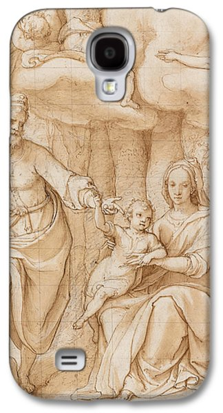 Jesus Pastels Galaxy S4 Cases - Rest on the Flight into Egypt Galaxy S4 Case by Federico Zuccaro