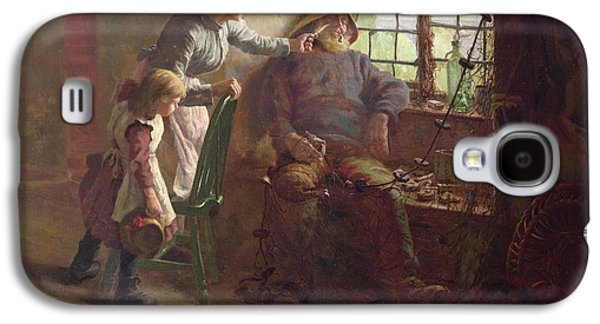 Resting Oil On Canvas Galaxy S4 Case by Edwin Harris