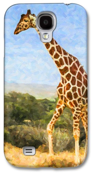 Reticulated Giraffe Kenya Galaxy S4 Case by Liz Leyden