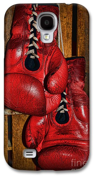 Boxer Galaxy S4 Cases - Retired Boxing Gloves Galaxy S4 Case by Paul Ward