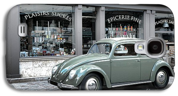 Grocery Store Galaxy S4 Cases - Retro Beetle Galaxy S4 Case by Olivier Le Queinec