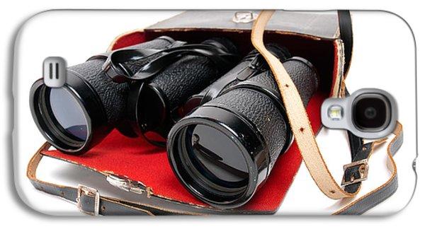 Observer Photographs Galaxy S4 Cases - Retro binoculars Galaxy S4 Case by Sinisa Botas
