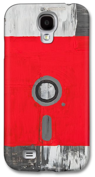 Recently Sold -  - Abstract Digital Paintings Galaxy S4 Cases - Retro disc Galaxy S4 Case by Shawn Hempel