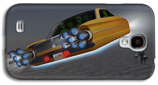 Alien Galaxy S4 Cases - Retro Flying Object 1 Galaxy S4 Case by Mike McGlothlen