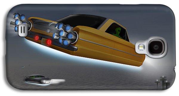 Alien Galaxy S4 Cases - Retro Flying Objects Galaxy S4 Case by Mike McGlothlen