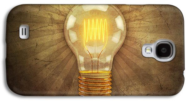 Animation Galaxy S4 Cases - Retro Light Bulb Galaxy S4 Case by Scott Norris