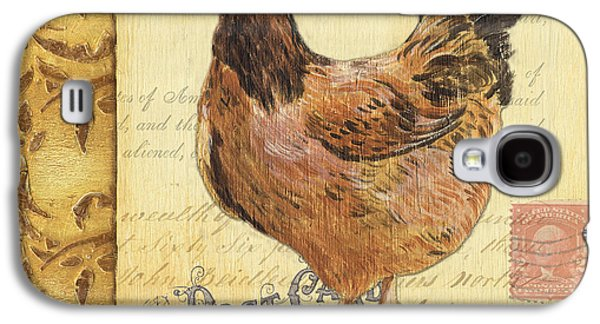 Creative Paintings Galaxy S4 Cases - Retro Rooster 1 Galaxy S4 Case by Debbie DeWitt